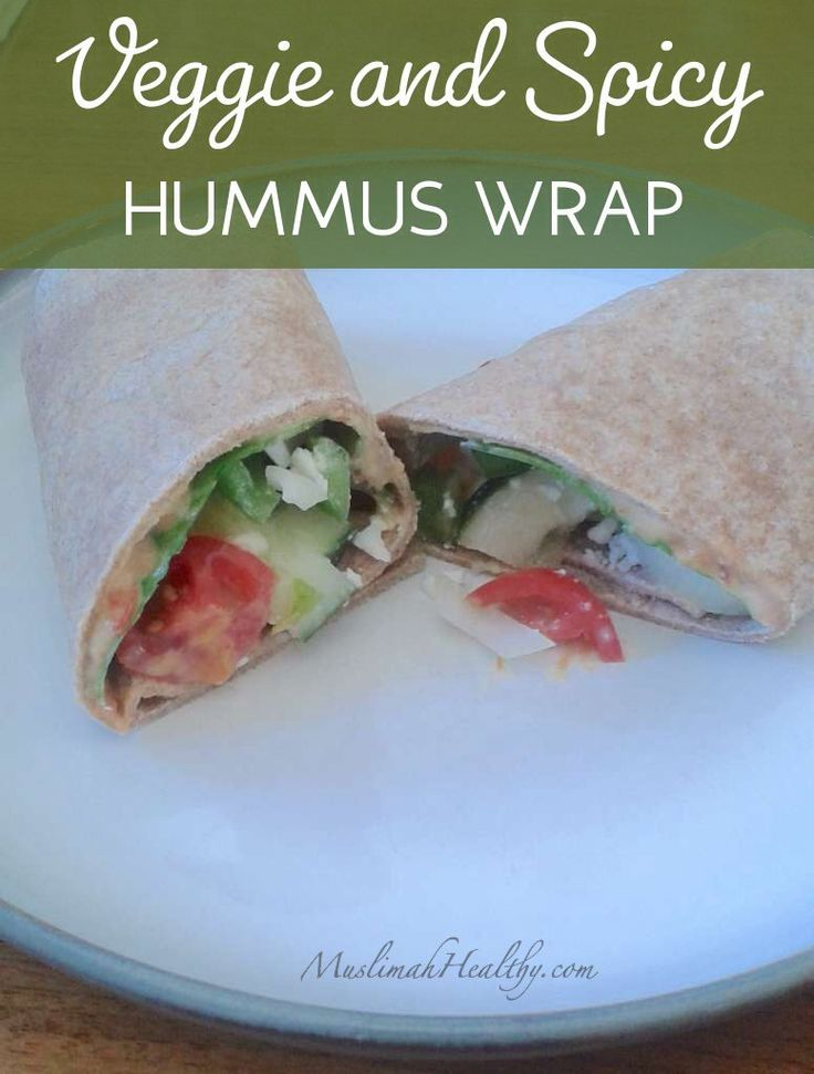 Try out this delicious Veggie and Spicy Hummus Wrap! It's the perfect ...