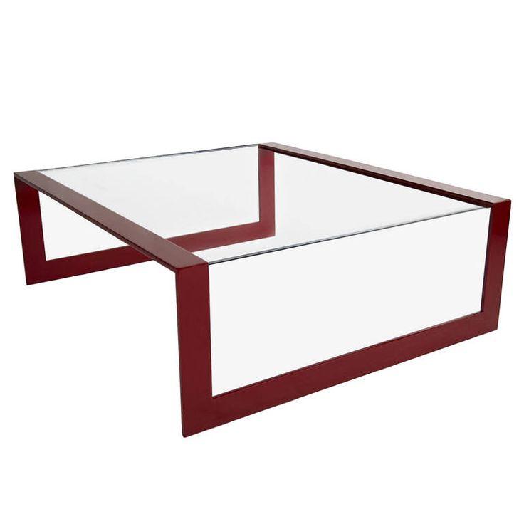 Minimalist Glass And Steel Coffee Table