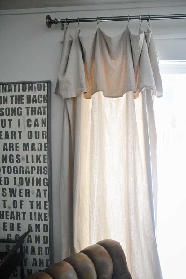 Diy No Sew Drop Cloth Curtains The Cheapest Amp Easiest Diy Curtains Ever House Pinterest