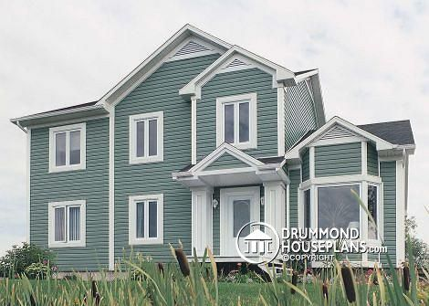 Need of the owner Expand the house to get five bedrooms including a guest room. Provide the space on the first floor for an office and improve the exterior appearance of the house. http://www.drummondhouseplans.com/renovation-plan-detail/info/1000016.html #Renovation #House #Plan #Cottage