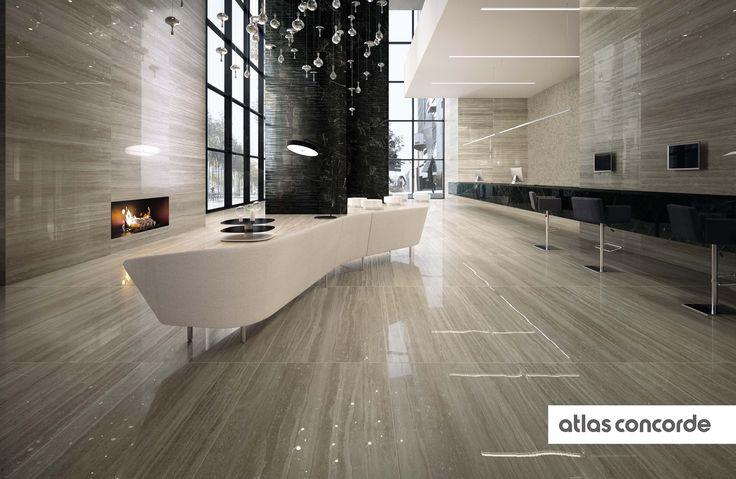 #MARVELPRO travertino silver & noir st laurent | #AtlasConcorde | #Tiles | #Ceramic | #PorcelainTiles