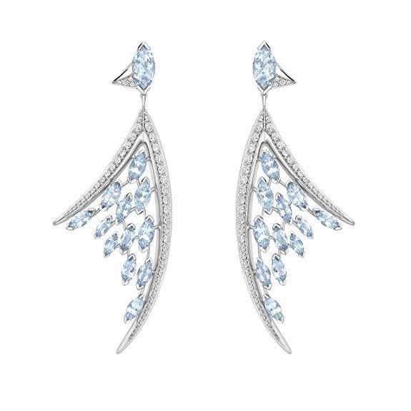 Shaun Leane Damen-Ohrringe Weißgold 18 k (750) Diamant Transparent Asscherschliff