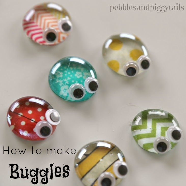 I'm dying to show you these cute BUGGLES  we made.  It's a fun little kids craft using clear gems and reusing an Altoid tin and it would b...