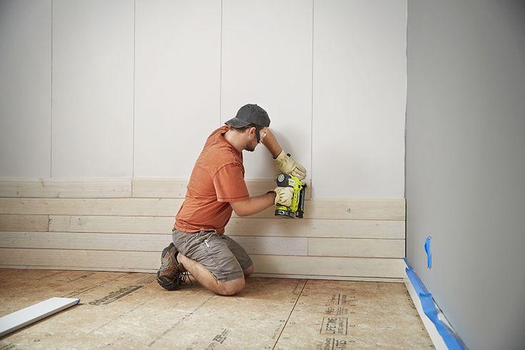 How to Install a Shiplap Wall | Ship lap walls, Installing ...