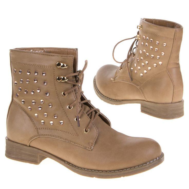 Damen Schuhe Stiefeletten designer Used Schnurstiefel Boots 1900 Schwarz 37