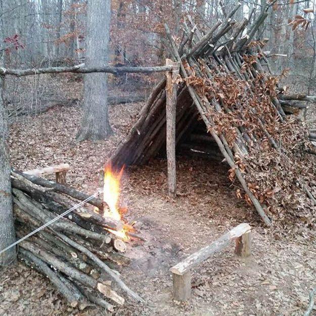 Bushcraft Survival Skills: 53 Best Long Term Shelter Images On Pinterest