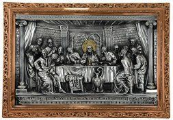 Metal Wall Art is super cool, trendy and stylish especially for rooms such as offices and kitchens. In fact, there is a wide variety of metal wall art from crazy abstract metal wall art to beautiful floral metal wall art. #metalwallart #homewallartdecor #homedecor   Good Directions 735SCO Large Last Supper Three Dimensional Mural, Silver/Copper/Gold