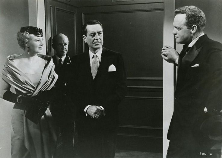 "black widow 1954 movie | Ginger Rogers, Reginald Gardiner, and Van Heflin in ""Black Widow ..."