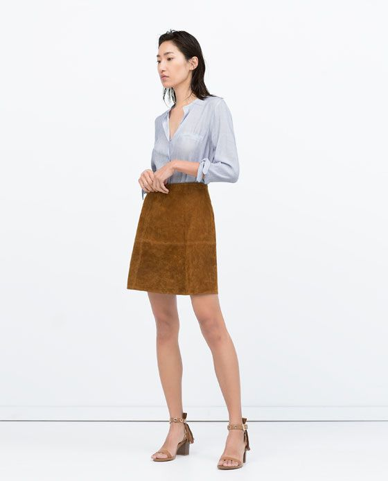 Image 1 of STRIPED BLOUSE WITH TIE-SLEEVES from Zara