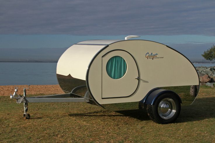 Living in a shoebox     You can nearly double the size of the Gidget Retro Teardrop Camper by simply sliding it out