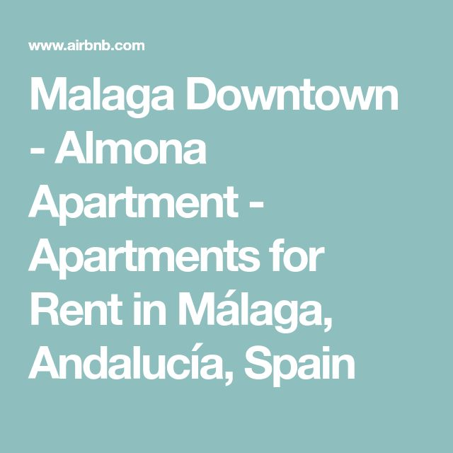 Malaga Downtown - Almona Apartment - Apartments for Rent in Málaga, Andalucía, Spain