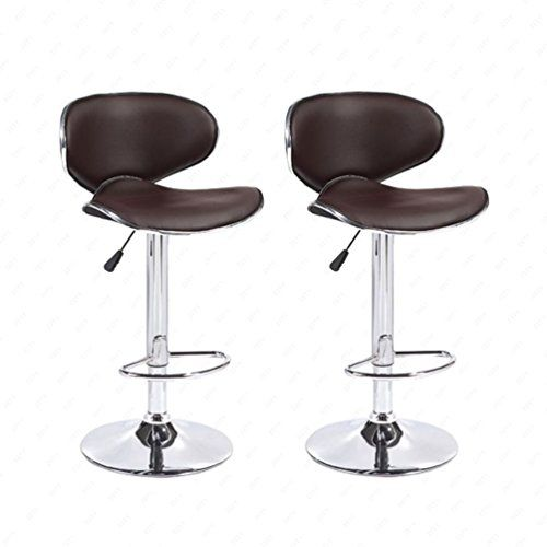2PCS Swivel Bar Stools Adjustable Leather Hydraulic Dining Chair 3 Colors