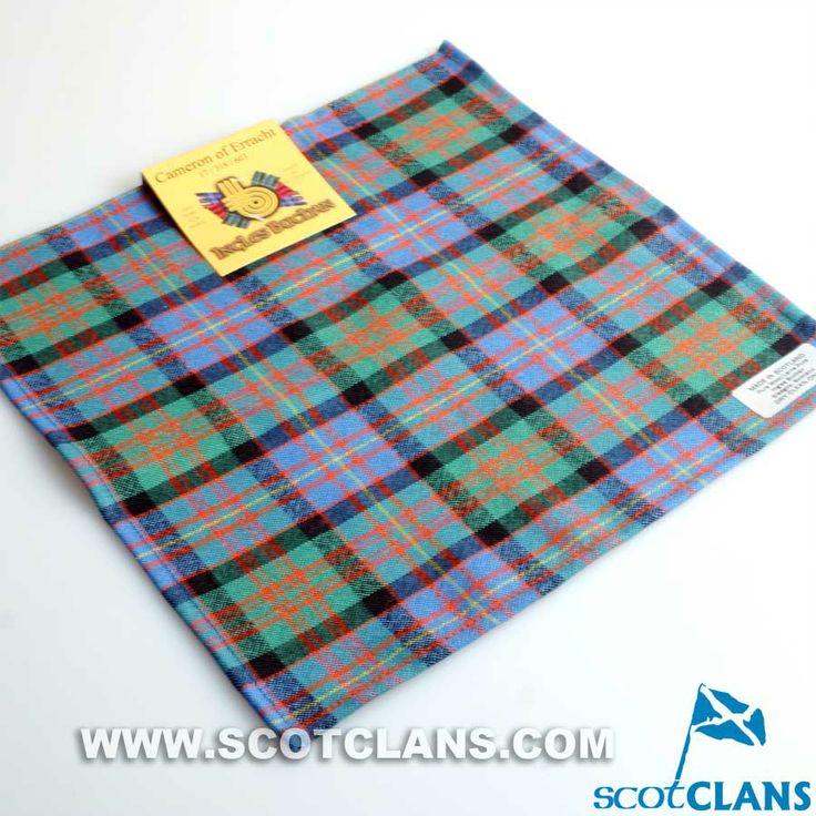 Clan Cameron of Erracht Modern Tartan Wool Handkerchief