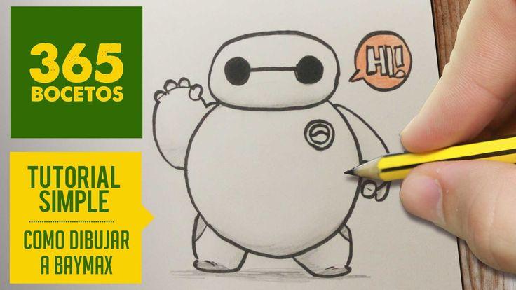 COMO DIBUJAR DE BIG HERO 6 A BAYMAX PASO A PASO - Kawaii facil - How to draw Baymax from Big Hero 6