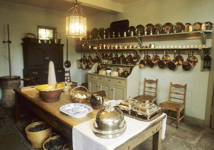 Basement Kitchen, Georgian House, Charlotte Square, Edinburgh. Photo National Trust for Scotland