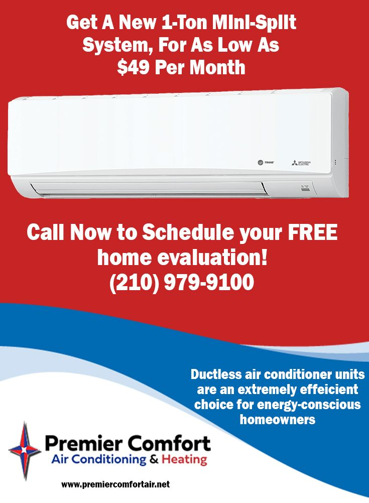 Get A New Energy Efficient 2 Ton Trane Mini Split Ac Unit For As Low As 49 Per Month Get P Heating And Air Conditioning Split Ac Unit Air Conditioner Units