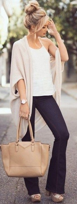 #summer #elegant #outfits |  Nude + Black and White                                                                             Source