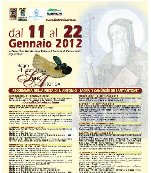 Sagra dei canunsei de Sant'Antone a Castelcovati http://www.panesalamina.com/2012/940-sagra-dei-canunsei-de-santantone-a-castelcovati.html