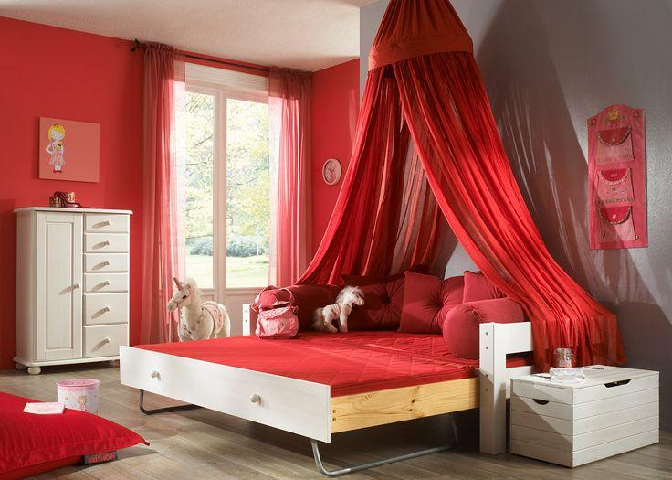 Dětská postel s postelí pro hosty a nebesy - 2