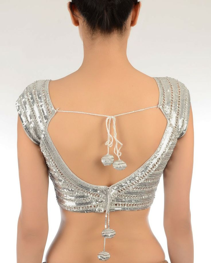 #OMG Gorgeous open back #Choli Blouse for #Saree, Lehenga...