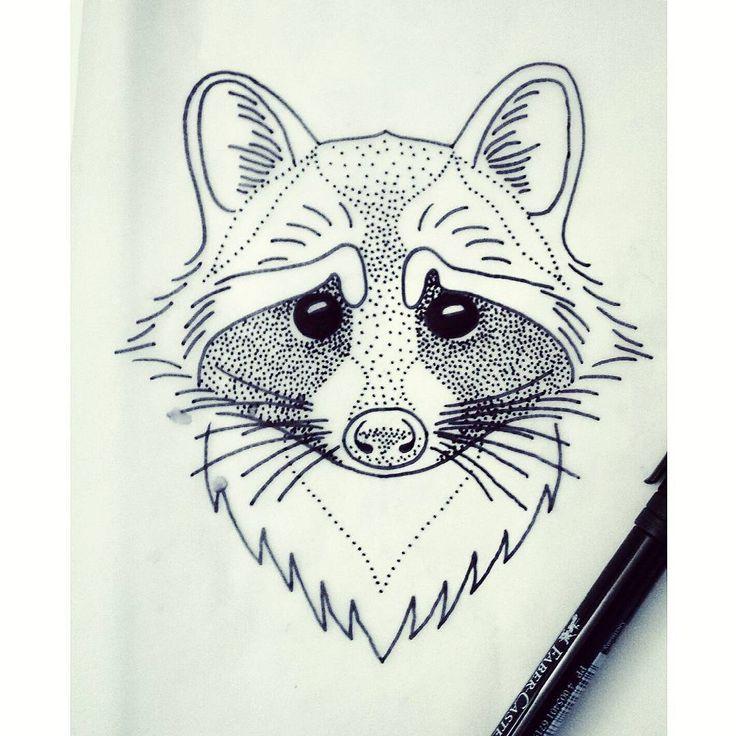 #raccoon #raccoontattoo #tattoo #tattoosketch #blacktattooart #blackworkers…