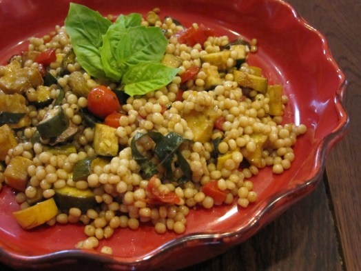 Toasted Israeli Couscous Salad with Grilled Summer Vegetables ...