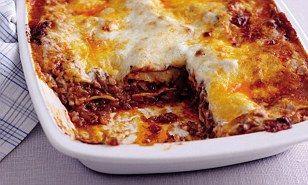 Meat lasagne & Bolognese sauce