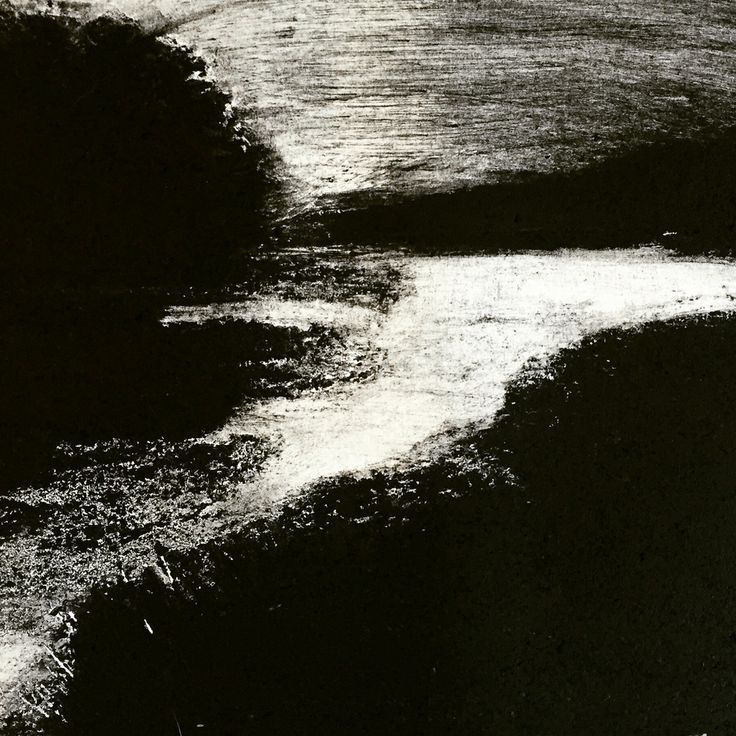 Porters landing. Maine. Carborundum Print. Kat Logan 2016