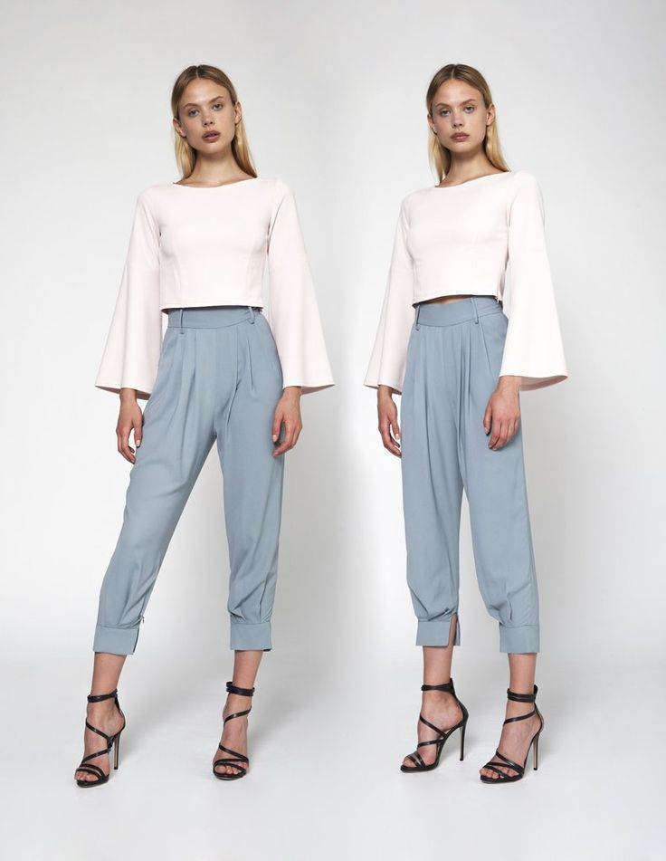 Buy this #sharp and #boxy shape of this #top combined with its #pretty, #femininehue makes it the loveliest #pairing! #NeroliAnonyme #ComfortWear #StylishLook #BeautyWear #CaileyPairing