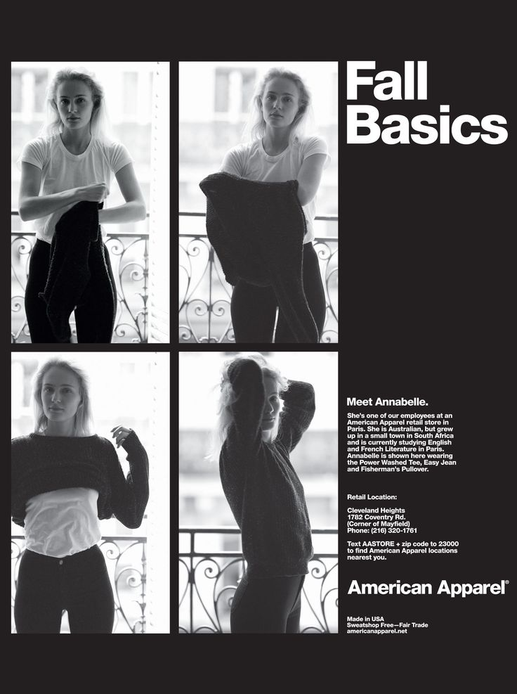 Fall Basics by #AmericanApparel.