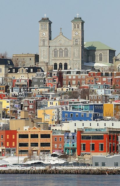 """St. John's, Newfoundland, Canada <3 So pretty and colourful...favourite street is """"Hill O'Chips""""!"""