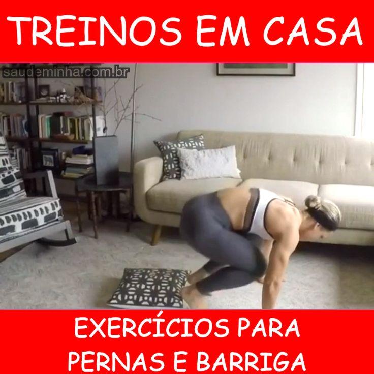 Exercícios Fáceis de Fazer em Casa Para Pernas e Barriga!👏😍🏋️♂️