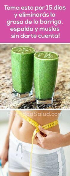 Toma esta bebida por 15 días para eliminar la grasa de la barriga, espalda, muslos sin darte cuenta.