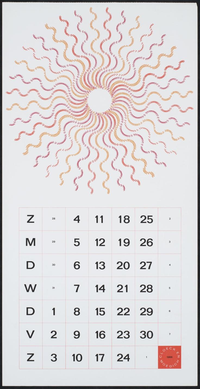 Een jaar vol zon! ontwerper: Schrofer, Jurriaan opdrachtgever:   Cloeck & Moedigh NV kalender Verv.jaar:1966