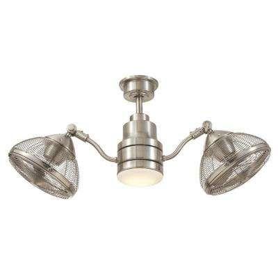 Integrated LED Indoor/Outdoor Brushed Nickel Ceiling Fan With Light Kit · Nickel  Gebürstet DeckenventilatorLithonia BeleuchtungDrinnen ...