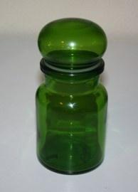 green retro bottles