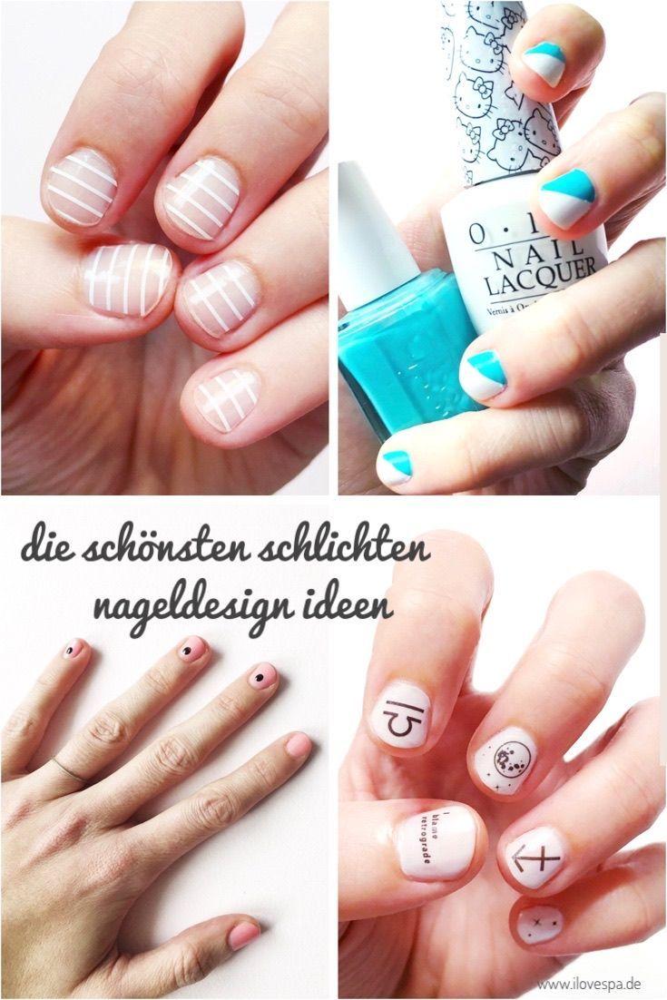 Das schönste schlichte Nageldesign & minimale Maniküre-Ideen für kurze Nägel …