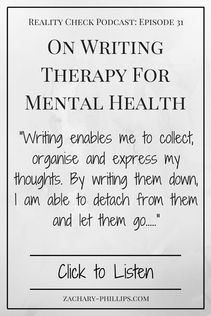 31: On Writing Therapy For Mental Health