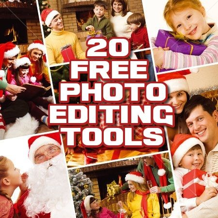 Get the best 20 tools for photo editing for free.
