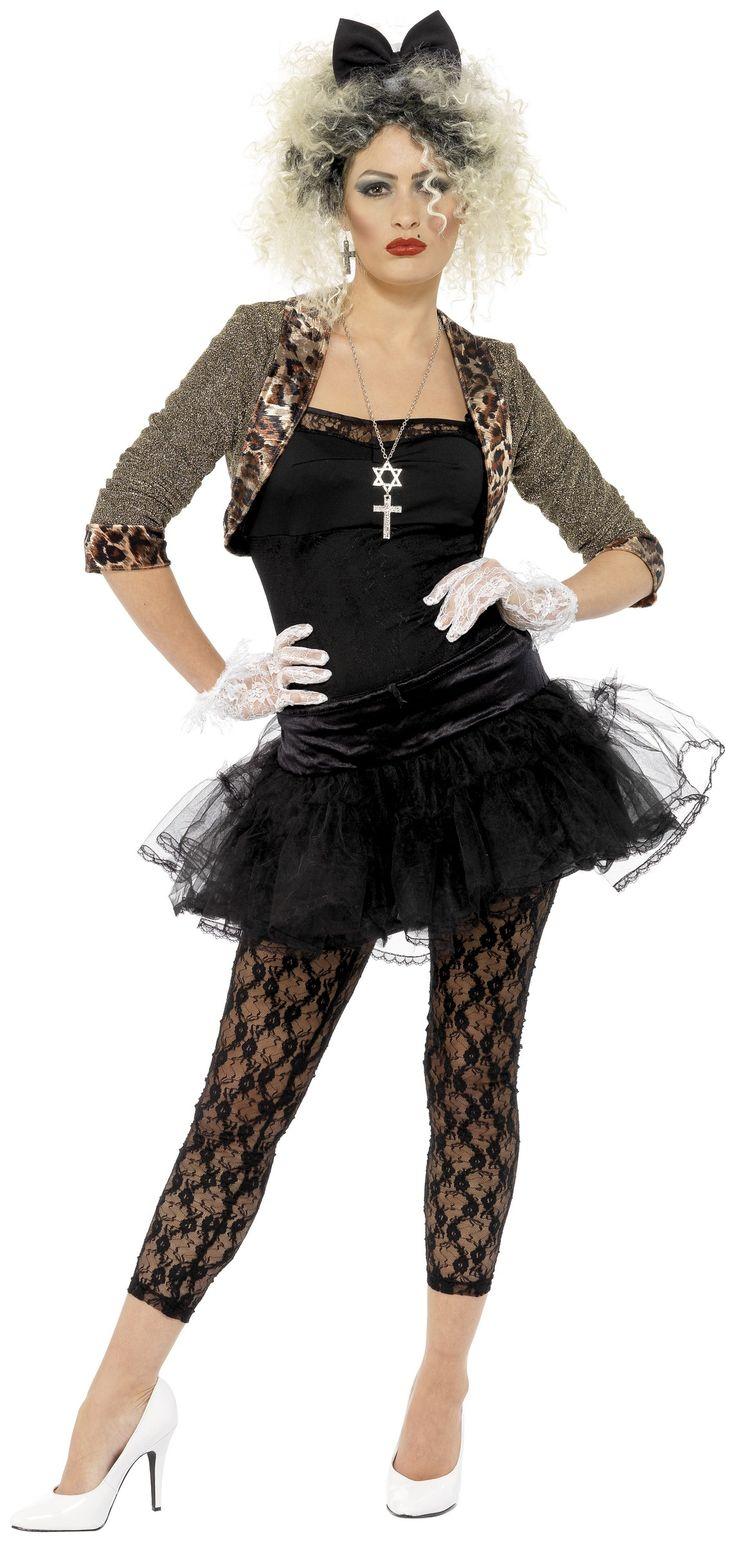 Disfraz de los años 80 para mujer. ¡Material girl! Disponible en www.vegaoo.es