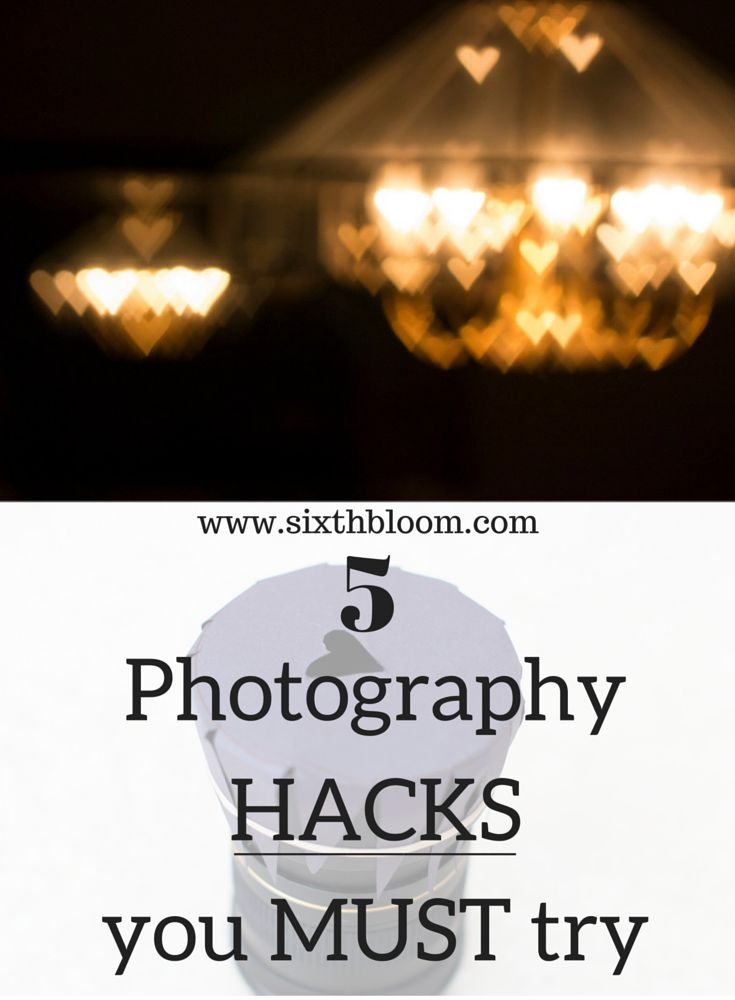 5 Photography Hacks You MUST Try. Photography tricks to save you money, DIY photography hacks, DIY photography