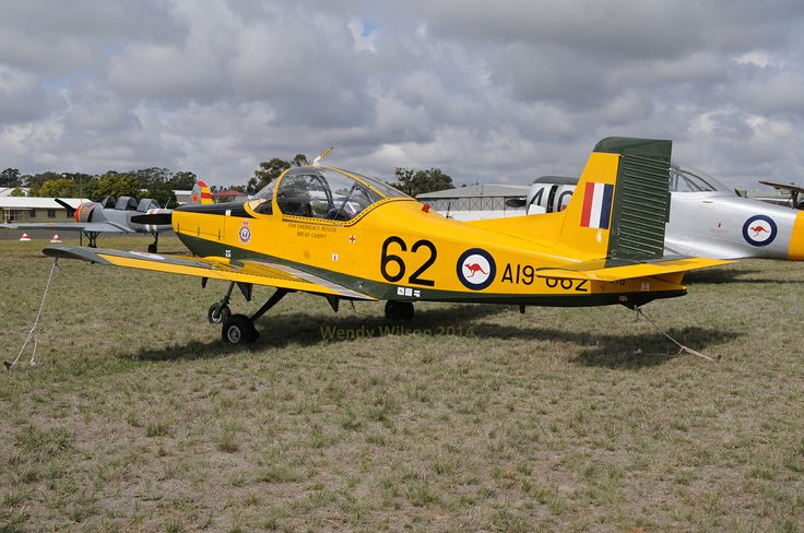 Airtrainer CT-4 'Plastic Parrot' VH-CTQ which won the 'Best Warbird' award. AAAA national fly-in Temora 2014.