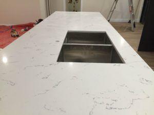 Carrara Prefabricated Benchtop with undermount sink