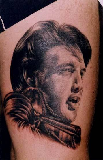 17 best images about elvis tattoos on pinterest static cling search and heart tattoo designs. Black Bedroom Furniture Sets. Home Design Ideas