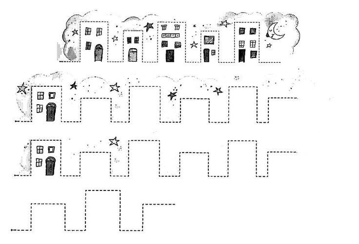 schrijfoefening huizen