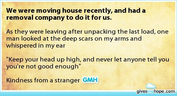 Random acts of kindness - We were moving house recently, and had a removal company to do it for us.