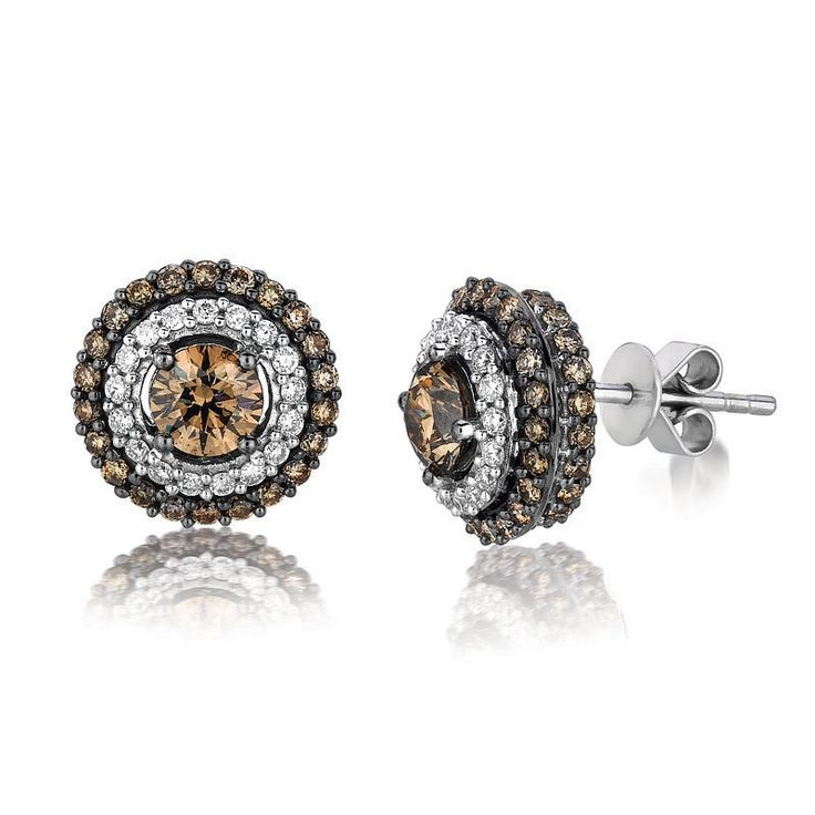 Le Vian Chocolate Diamond 18k White Gold Earrings