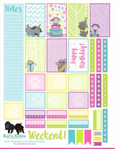 Celebrating Gotcha Days & Birthdays in Your Memory Planner (+ Free Printable Stickers) - Kol's Notes
