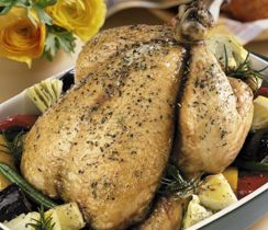 Choose white meat instead of dark, as it is lower in fat. Try putting seasoning under the skin, making you less likely to eat the skin, which is higher in fat.