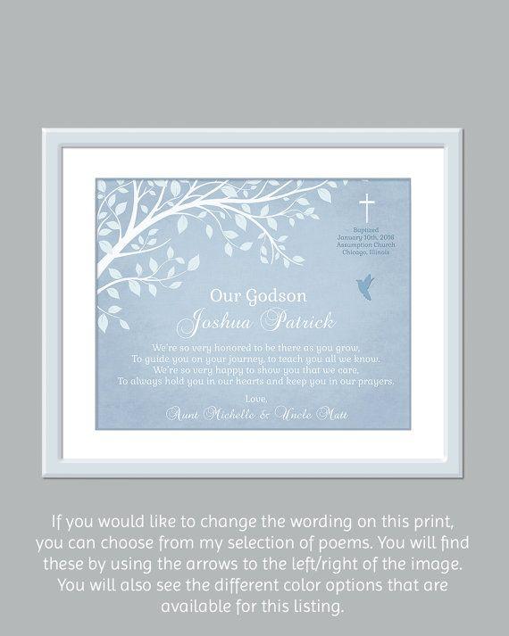 Godson Gift - Personalized Gift For Godson - Catholic Baptism Gift - Printable Baptism Gift - Baby Dedication Gifts - Baptism Keepsake